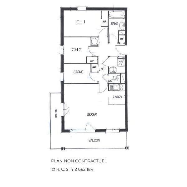 Skiverleih 4 Zimmer Appartement für 8-10 Personen (331) - Les Côtes d'Or Chalet Courmayeur - Les Menuires