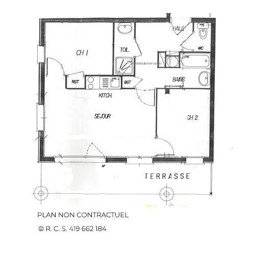 Location au ski Appartement 3 pièces cabine 4-6 personnes (301) - Les Côtes d'Or Chalet Courmayeur - Les Menuires - Chambre mansardée