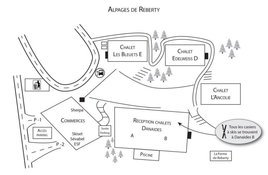 Wynajem na narty Résidence Ancolie - Les Menuires - Plan