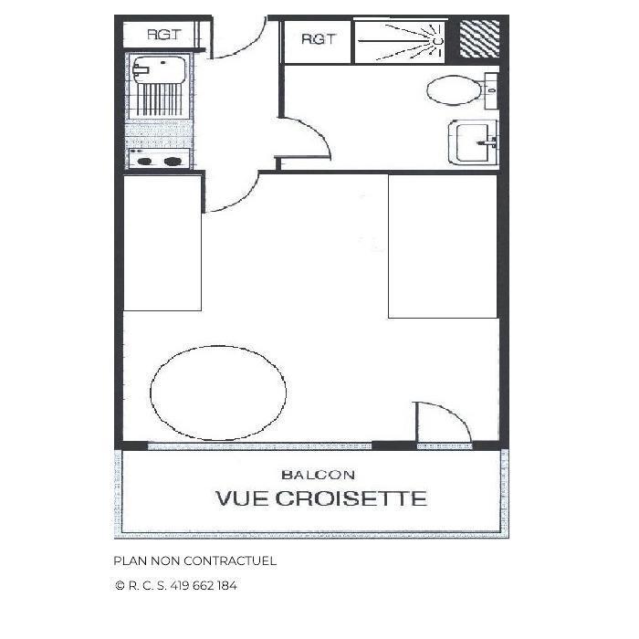 Location au ski Studio 3 personnes (514) - Résidence Aravis - Les Menuires