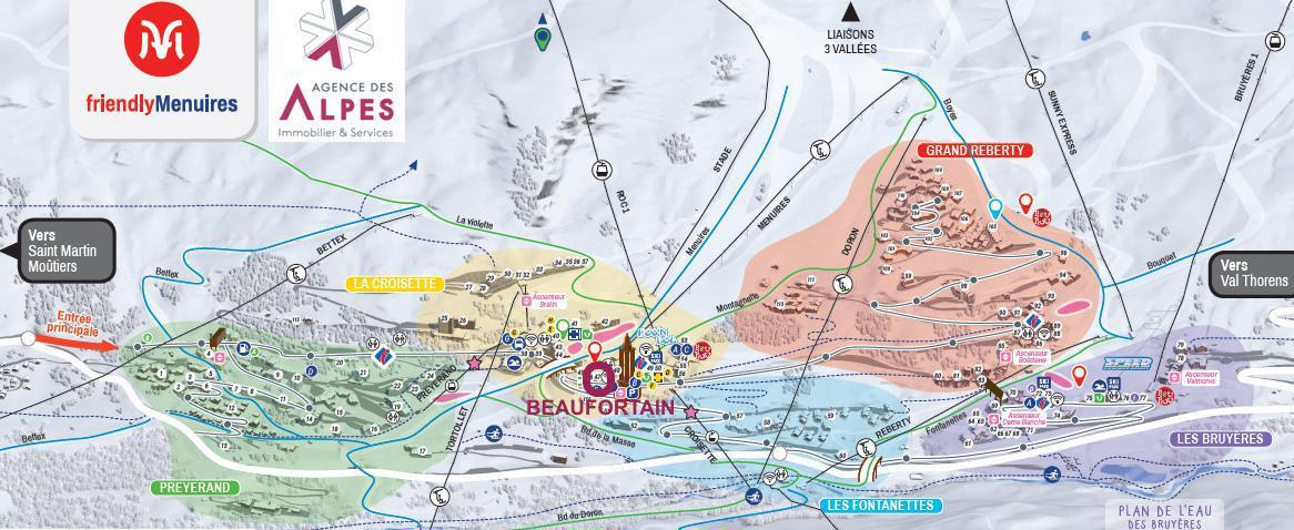 Location au ski Résidence Beaufortain - Les Menuires - Plan