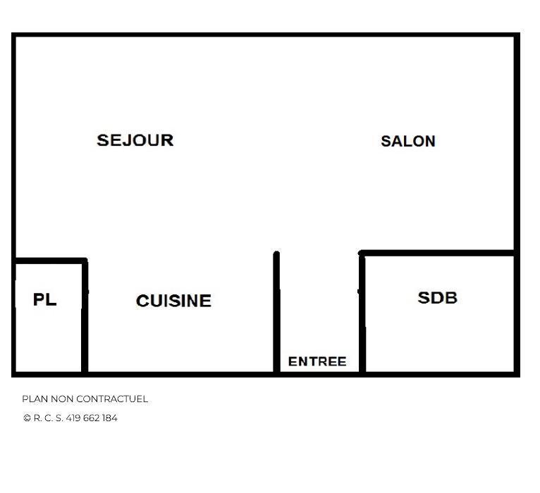 Location au ski Studio 4 personnes (14) - Résidence Beaufortain - Les Menuires - Plan