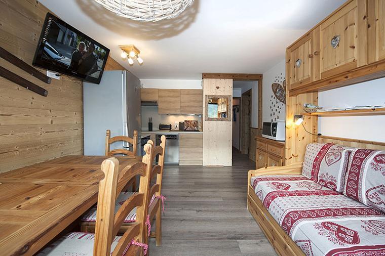 Location au ski 2 Appartements 3 pièces 8 personnes communicant (344) - Résidence Biellaz - Les Menuires - Extérieur hiver