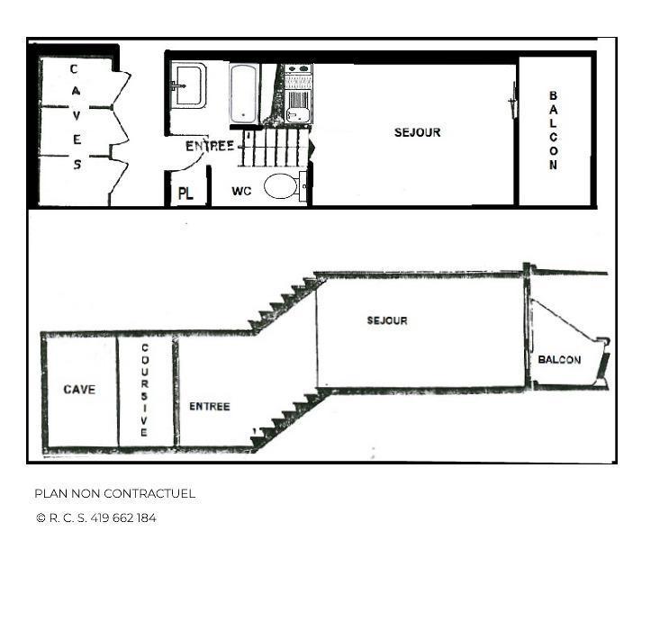 Location au ski Studio 4 personnes (330) - Résidence Challe - Les Menuires