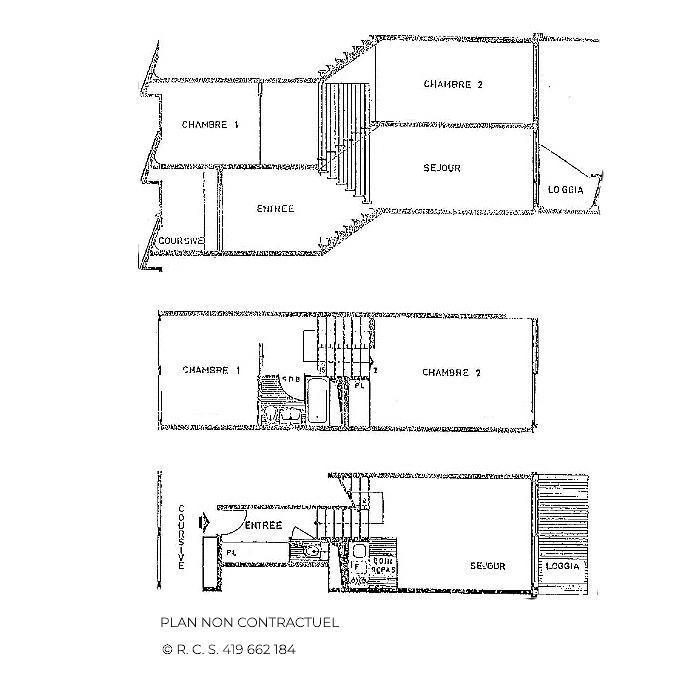 Location au ski Appartement triplex 3 pièces 7 personnes (835) - Résidence Challe - Les Menuires - Plan