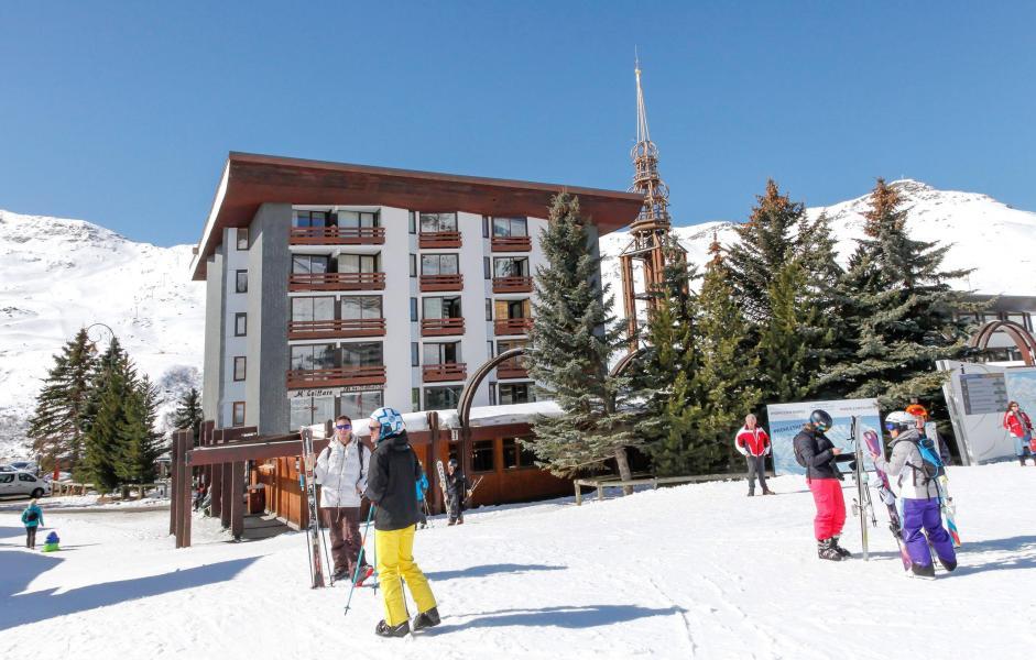 Location au ski Résidence Chanteneige Croisette - Les Menuires - Extérieur hiver
