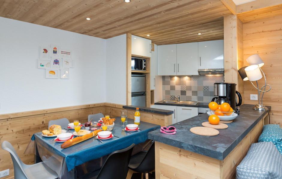 Location au ski Résidence Chanteneige Croisette - Les Menuires - Salle à manger
