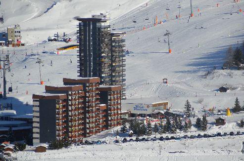 Location au ski Résidence Charmette - Les Menuires - Extérieur hiver