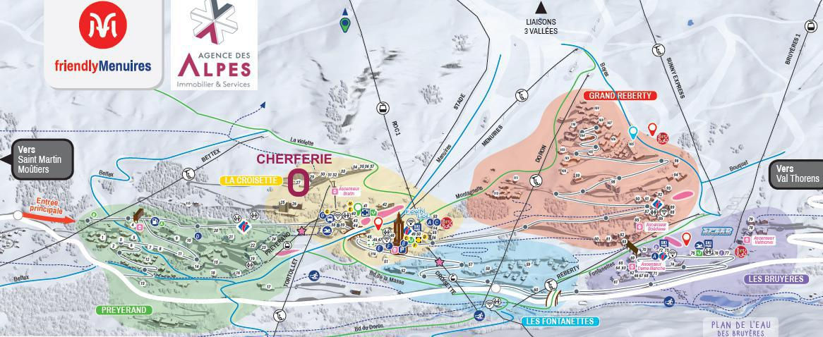 Skiverleih Résidence Cherferie - Les Menuires