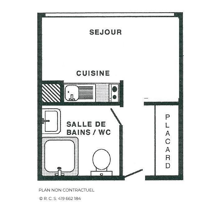 Location au ski Studio 2 personnes (845) - Résidence Combes - Les Menuires