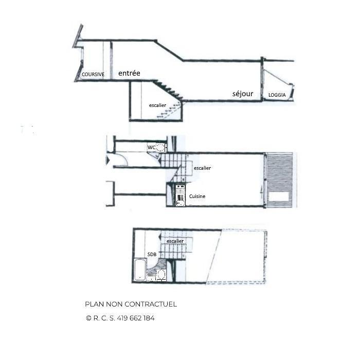 Location au ski Studio duplex 4 personnes (214) - Residence Cote Brune - Les Menuires - Baignoire