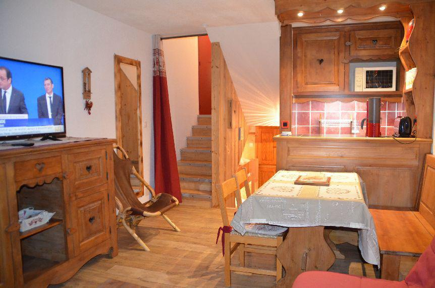 Location au ski Studio duplex 4 personnes (214) - Residence Cote Brune - Les Menuires - Séjour