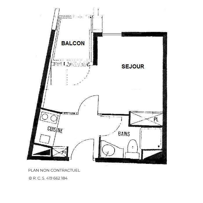Location au ski Studio 3 personnes (70) - Résidence l'Armoise - Les Menuires