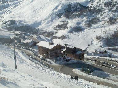 Vacances en montagne Résidence l'Astragale - Les Menuires - Extérieur hiver