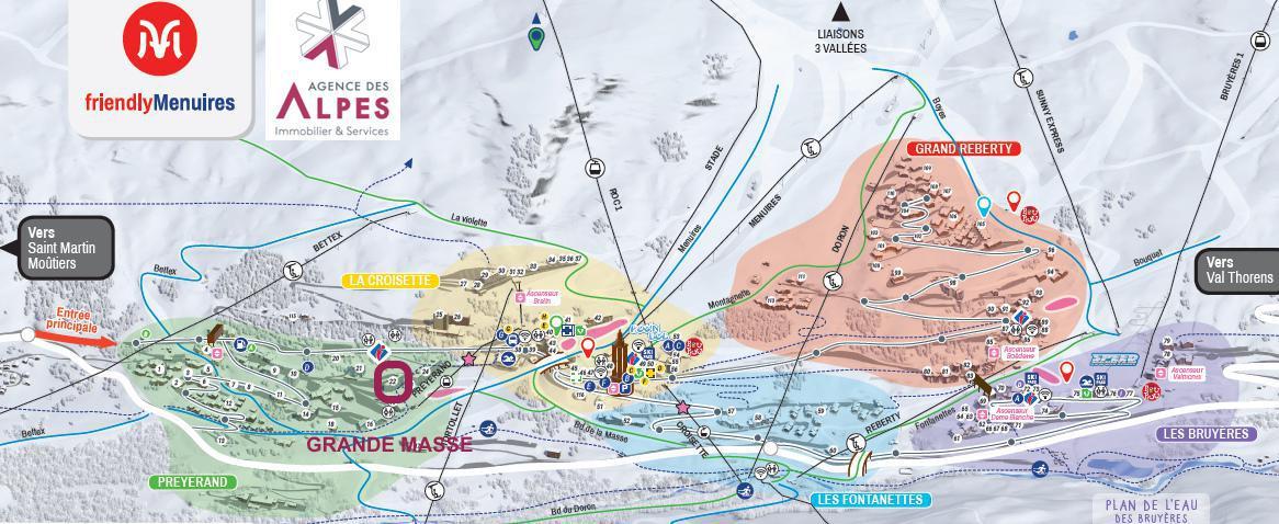 Location au ski Résidence la Grande Masse - Les Menuires - Extérieur hiver