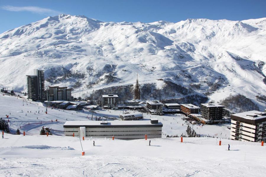 Location au ski Résidence Lac du Lou - Les Menuires - Extérieur hiver