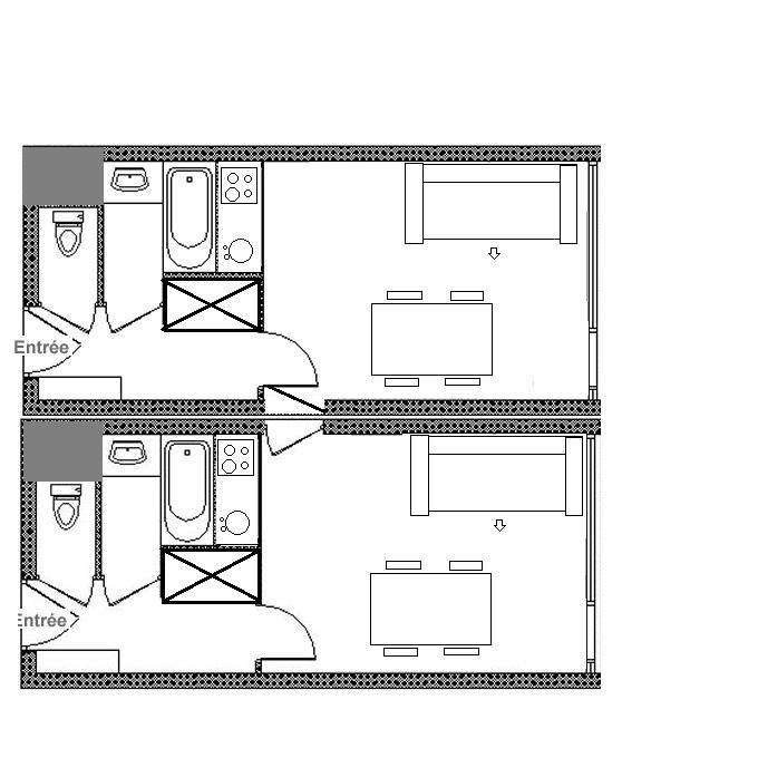Location au ski Appartement 2 pièces 8 personnes (122) - Résidence Lac du Lou - Les Menuires - Séjour