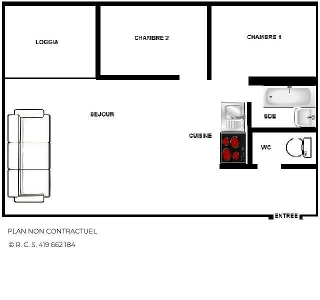 Location au ski Appartement 3 pièces 5 personnes (2604) - Résidence le Ski Soleil - Les Menuires