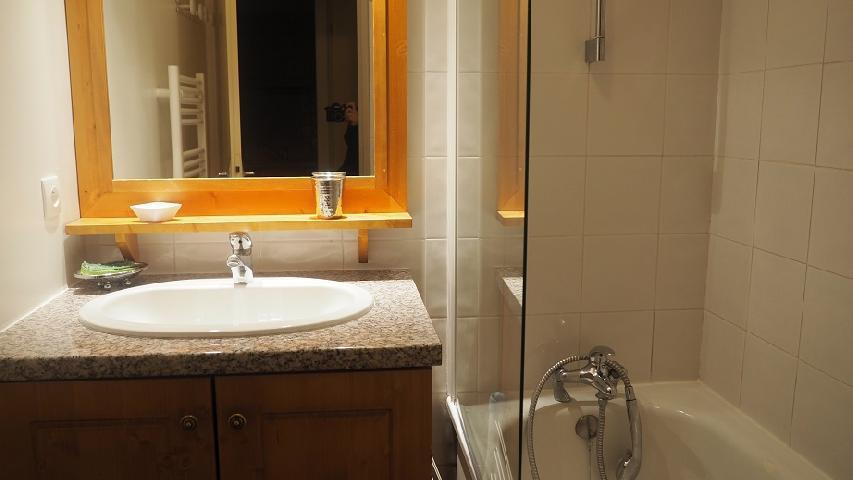Location au ski Appartement 2 pièces cabine 6 personnes (211) - Résidence le Sorbier - Les Menuires - Lavabo
