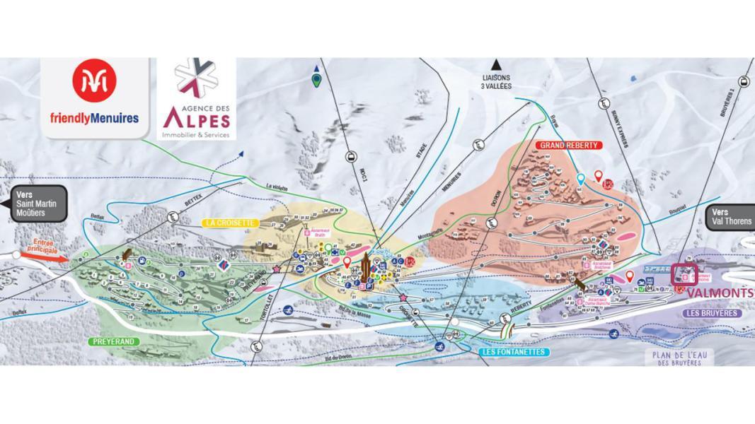 Location au ski Résidence le Valmont - Les Menuires