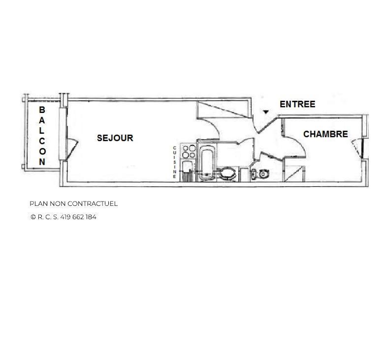 Location au ski Studio cabine 4 personnes (403) - Résidence le Valmont - Les Menuires - Appartement