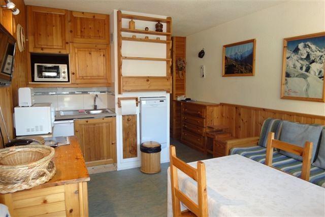 Location au ski Appartement 2 pièces cabine 4 personnes (322) - Résidence les Asters - Les Menuires - Séjour