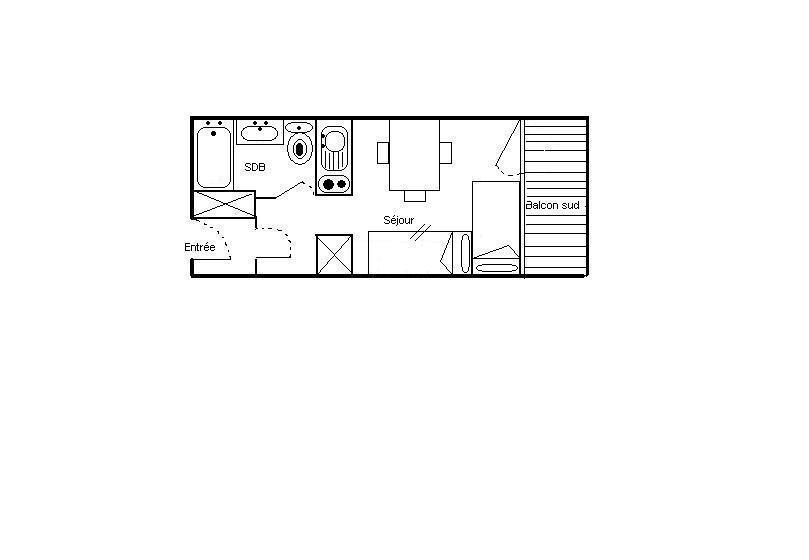 Soggiorno sugli sci Studio per 2 persone (724) - Résidence les Asters B2 - Les Menuires - Mappa