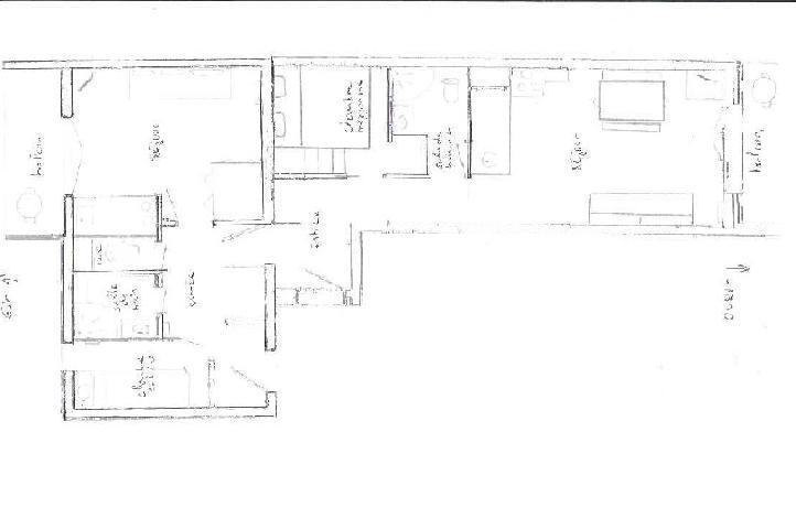 Location au ski Appartement 2 pièces cabine 5 personnes (107) - Résidence les Balcons d'Olympie - Les Menuires - Plan
