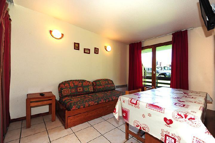 Location au ski Appartement 2 pièces cabine 6 personnes (050) - Résidence les Balcons d'Olympie - Les Menuires - Séjour