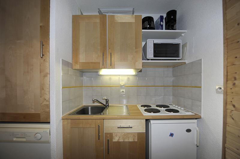 Location au ski Appartement 2 pièces cabine 6 personnes (535) - Résidence les Balcons d'Olympie - Les Menuires - Kitchenette