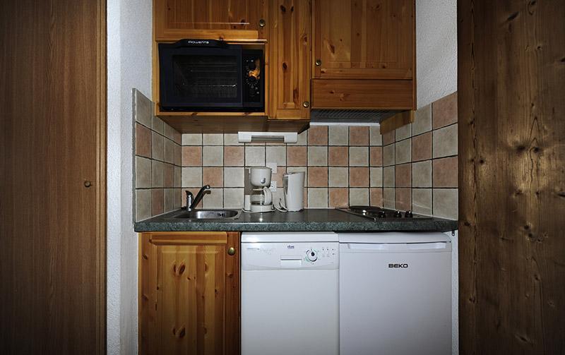 Location au ski Appartement 2 pièces cabine mezzanine 8 personnes (640) - Résidence les Balcons d'Olympie - Les Menuires - Kitchenette