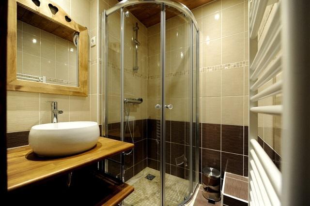 Location au ski Studio cabine 4 personnes (108) - Résidence les Balcons d'Olympie - Les Menuires - Salle de bains