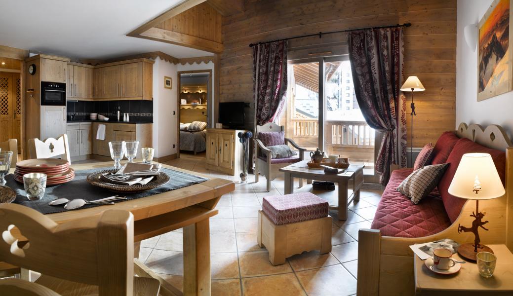 Location au ski Residence Les Clarines - Les Menuires - Séjour