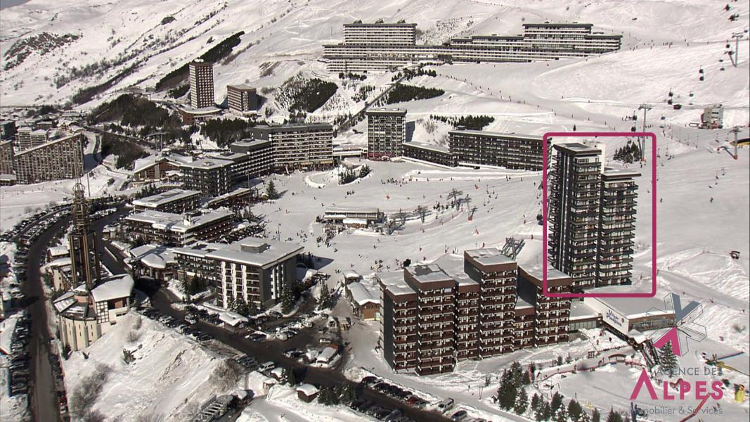 Vacances en montagne Résidence les Dorons - Les Menuires - Extérieur hiver