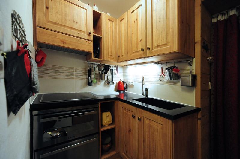Location au ski Appartement 2 pièces 5 personnes (D3) - Résidence les Lauzes - Les Menuires - Kitchenette
