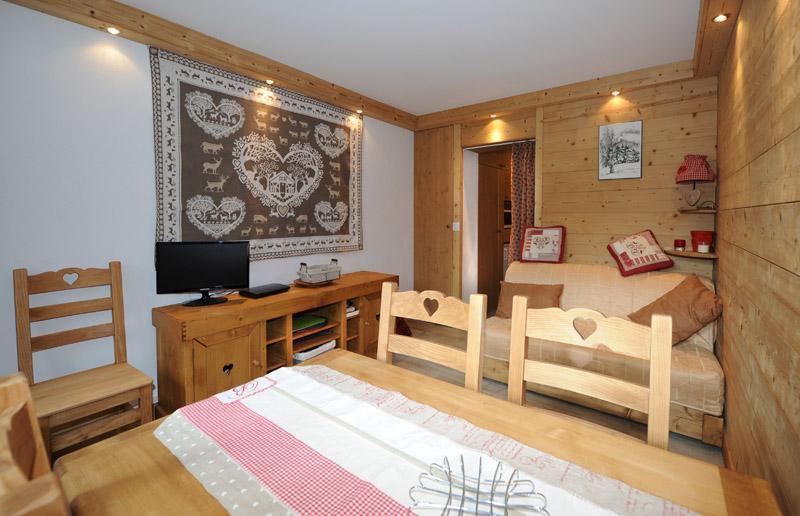 Location au ski Appartement 2 pièces 5 personnes (D3) - Résidence les Lauzes - Les Menuires - Table
