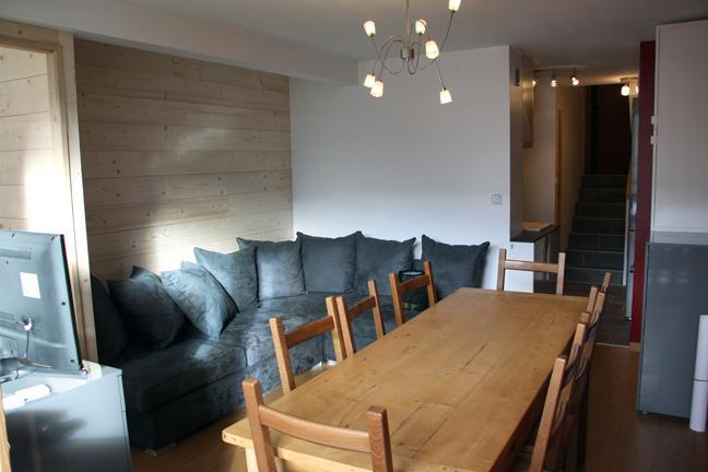 Location au ski Appartement duplex 3 pièces 8 personnes (D1) - Résidence les Lauzes - Les Menuires - Table