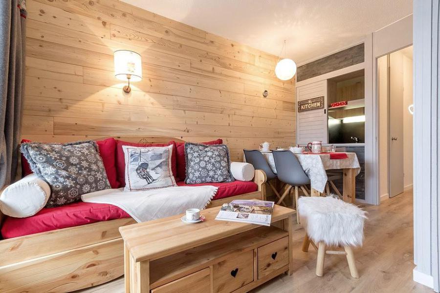 Wynajem na narty Apartament 2 pokojowy 4 osób (204) - Résidence les Soldanelles A - Les Menuires - Rozkładaną sofą