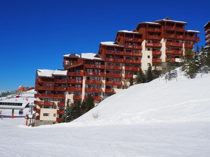 Location au ski Residence Les Valmonts - Les Menuires - Extérieur hiver