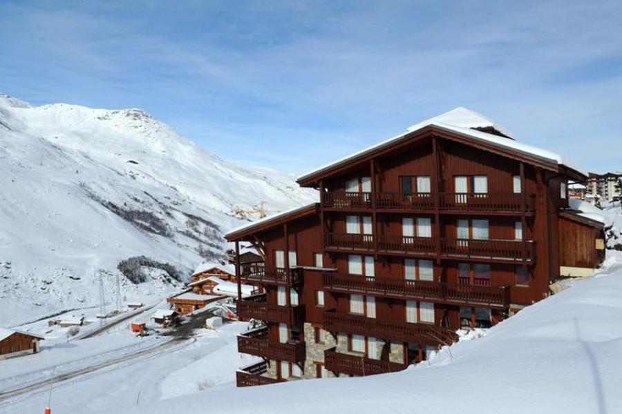 Аренда на лыжном курорте Résidence les Valmonts - Les Menuires - зимой под открытым небом
