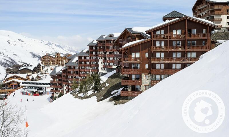 Аренда на лыжном курорте Апартаменты 2 комнат 4 чел. (Sélection 32m²-6) - Résidence les Valmonts - Maeva Home - Les Menuires - зимой под открытым небом
