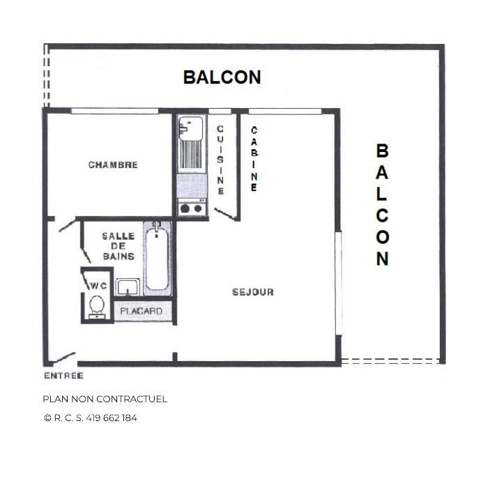 Location au ski Appartement 3 pièces alcôve 8 personnes (25) - Résidence Oisans - Les Menuires