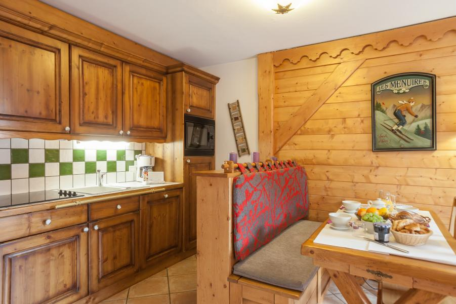 Alquiler al esquí Résidence P&V Premium les Alpages de Reberty - Les Menuires - Cocina