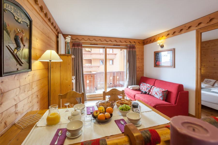 Location au ski Résidence P&V Premium les Alpages de Reberty - Les Menuires - Séjour