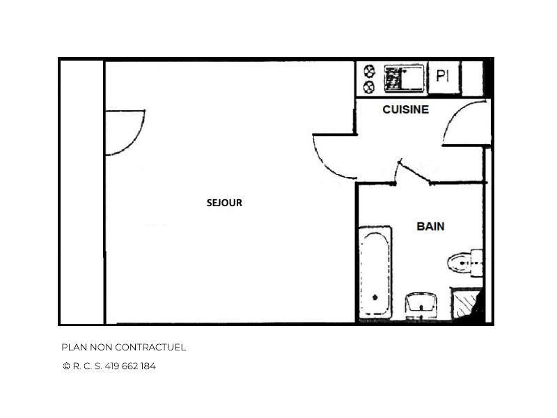 Location au ski Studio 2 personnes (92) - Résidence Pelvoux - Les Menuires