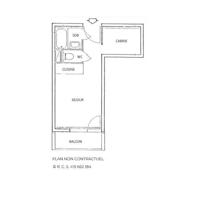 Location au ski Studio 2 personnes (301) - Résidence Sarvan - Les Menuires - Canapé-lit