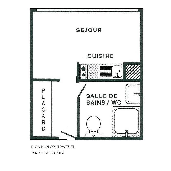 Location au ski Studio 2 personnes (1537) - Résidence Trois Marches - Les Menuires