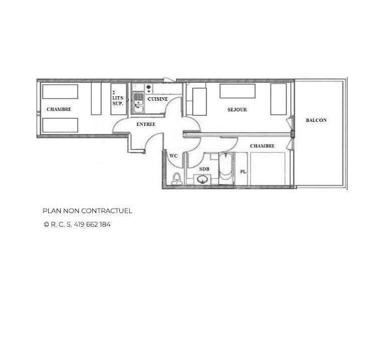 Location au ski Appartement 3 pièces 8 personnes (26) - Résidence Vanoise - Les Menuires - Appartement