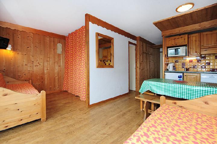 Location au ski Appartement 2 pièces cabine 5 personnes (104) - Résidence Villaret - Les Menuires - Kitchenette
