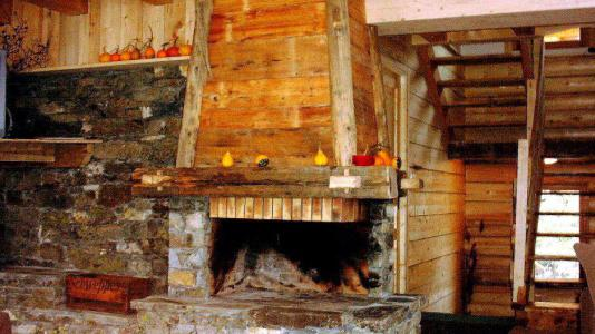 Rent in ski resort Chalet Gran Koute - Les Menuires - Fireplace